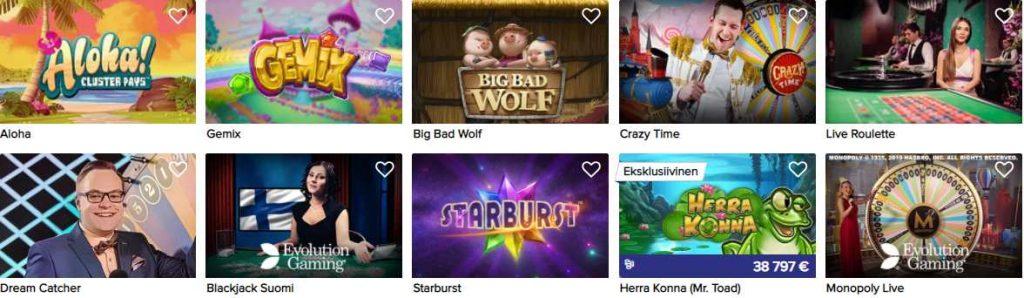 screenshot casinoeuro games
